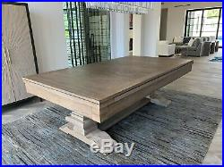 8 foot Beaumont Pool Table Plank and Hide free shipping dining top option