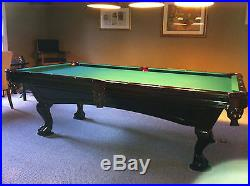 8 ft Brunswick Greenbrier Pool Table with Pool Table Light & Cue Rack REDUCED