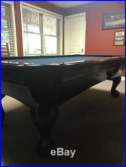 8 ft C. L, Bailey Co. (made in USA) Billiard Pool Table with accessories