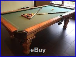 8 ft. Peter Vitalie Eclipse Slate Pool Table (Including New Felt)