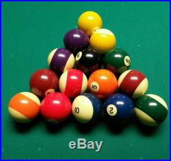 8 ft Pool Table Brunswick 8' leather Pocket Billiard