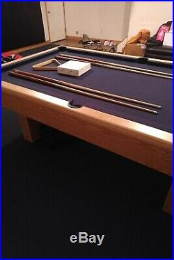 8 ft pool table 3 piece slate