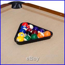 8ft billiard pool table cue sticks ball set brush triangle rack chalk bars