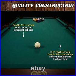 90 Ball & Claw Leg Pool Table Cue Rack Dartboard Billiards Outdoor Sports Green