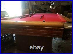 9' 1940s Brunswick Anniversary Pool Table 1 Slate