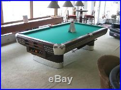9' BRUNSWICK ANNIVERSARY ANTIQUE THE GAME ROOM STORE, NEW JERSEY DEALER