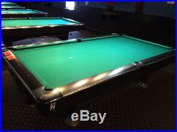9' BRUNSWICK BLACK GOLD CROWN IV BILLIARD POOL TABLE