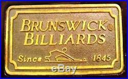 9' Brunswick Billiards Mahogany Burl Slate Ganmes Pool Table with Accessories