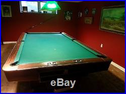 9' Brunswick Gold Crown IV Pool Table All Mahogony Body and Rails