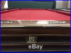 9' Brunswick Gold Crown Pool Table