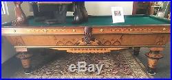 9' Brunswick New Acme Antique Pool Table