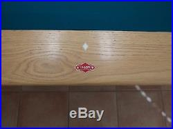 9' Diamond Professional Pool Table and Light Light Oak