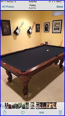 9 FT Brunswick Contender POOL TABLE And Accessories