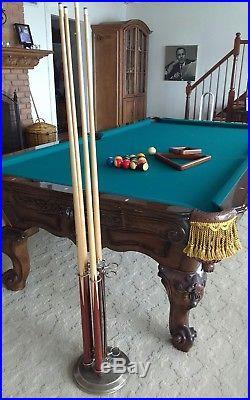 9' Renaissance La Fleur Pool Table by Charles A. Porter Custom Originals