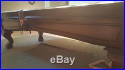 9 foot Legacy Slate pool table with Brunswick Centennial tournament Teflon cloth