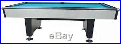 9 foot SILVER SHADOW BILLIARD POOL TABLE by BERNER BILLIARDS +CLOTH CHOICE NEW