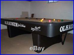 9' olhausen championship model billiard table