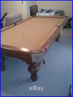9' slate Brunswick pool table