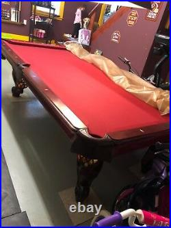 AMF Pool Table with Profession Felt and Pockets. Great condition