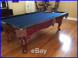 AMV Highland Series Mahogany Pool Table