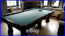 ANTIQUE BRUNSWICK PFISTER BILLIARDS TABLE