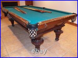 ANTIQUE Victor Oak POOL TABLE CIRCA 1900 VINTAGE Victorian ORIGINAL Billiards