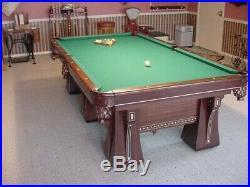 Absolutely stunning1922 Brunswick Arcade 6 leg 9' model pool table