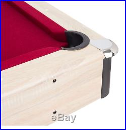 Air Zone 84 Pool table with Accessories, Red Felt
