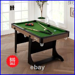 Airzone 60 Folding Pool Table with Accessories, Green Cloth