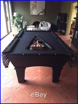 All Black 8' Connelly Billiard Pool Table
