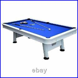 Alpine 8-ft Outdoor Pool Table with Aluminum Rails, White