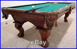 American Heritage 8 Foot Slate Pool Table #44445 and Accessories