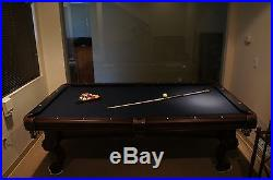 American Heritage Billiards Collection Pool Table Blue Felt With Rack & Accesories