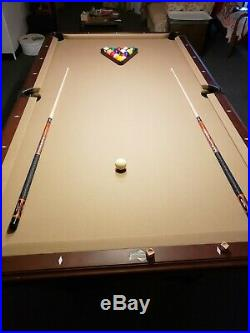 American Heritage (Peregrine Edition) 8 foot pool table withleather webbed pockets
