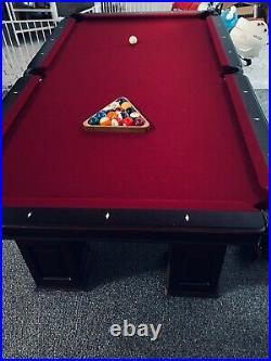 American Heritage Pool Table Slate Regulation 8ft Pool table \wall unit etc