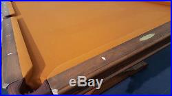 Andrew Gille Vitalie Manufacturing 8' Pool Table Pre-Owned