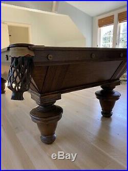 Antique 1889 Brunswick Balke And Collender Narragansett Pool Table