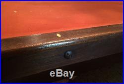 Antique 1909 Brunswick Balke Collender Monarch Cushions Pool Table 8 1/2