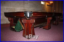 Antique 1920-1930 Brunswick Balke Collender Arcade Pool Table with Ball Return