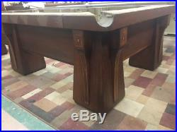 Antique 1920's Brunswick Billiard Arcadian Pool Table