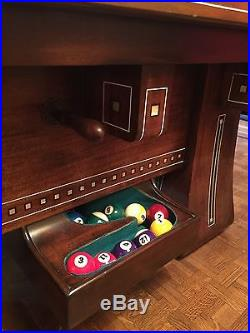 Antique 1920's Brunswick Kling Billiard Pool Table