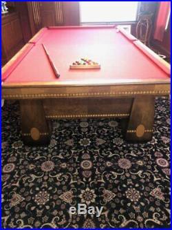 Antique 1928 Brunswick Balke Collender Billiard Medalist Walnut Snooker Table