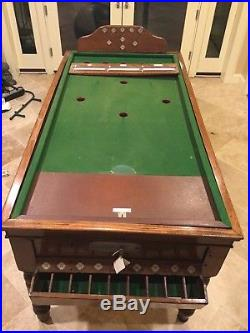 Antique 1930s Jelkes Bar Billiards Table, excellent condition/fully functional