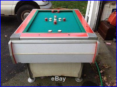 Antique 1950's Deco Coin operated bumper pool table