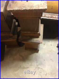 Antique 4.5' X 9' Brunswick pool table