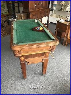 Antique 5 Cent Billiardette Miniature Floor Pool Table Rare Mint Condition
