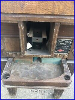 Antique 5 Cent Billiardette Miniature Floor Pool Table Rare Will Ship