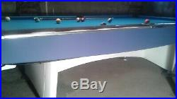 Antique 9ft Brunswick Gold Crown1 Pool Table with Accessories Delivery Setup