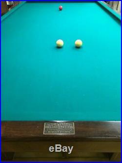 Antique Billiard Table, Wendt, 3 Cushion, 5 x 10, 6 leg