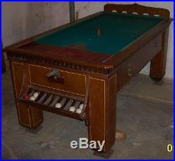Antique Billiards Pool Table Bagatelle Belgian English Vtg 1930's Bar Game